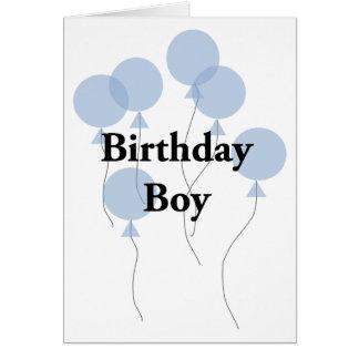 Cartão Menino do aniversário