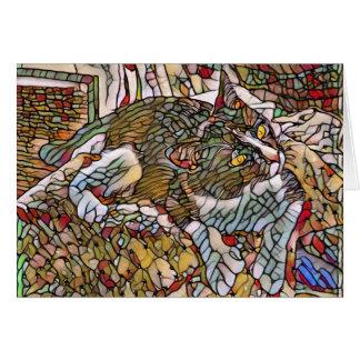 Cartão Menino do vidro da mancha
