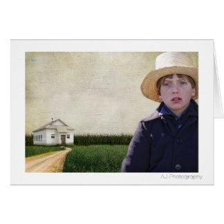 Cartão Menino Potrait de Amish