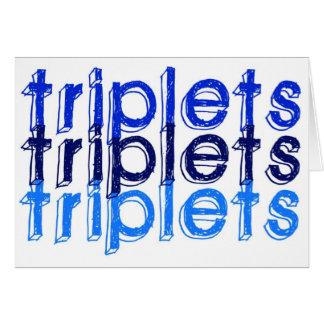 Cartão Meninos da objectiva tripla