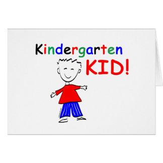 Cartão Meninos do miúdo do jardim de infância