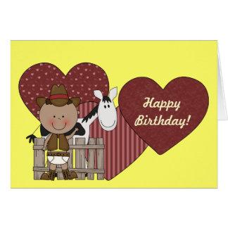 Cartão meninos étnicos da criança do ø ò aniversário de 3
