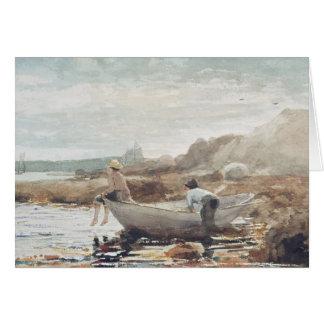 Cartão Meninos na praia