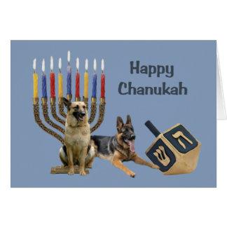 Cartão Menorah Dreidel1 de Chanukah do german