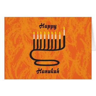 Cartão Menorah, feliz, Hanukah