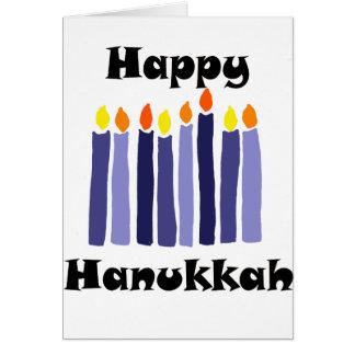 Cartão Menorah legal Candles a arte feliz de Hanukkah