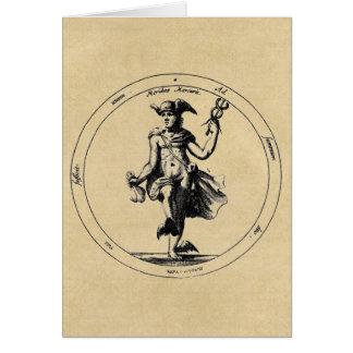Cartão Mensageiro de Mercury - de Hermes dos deuses