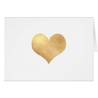 Cartão Mensagem do ouro Heart/DIY do falso de PixDezines