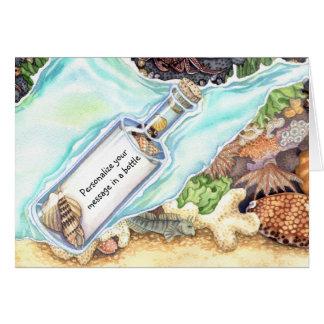 Cartão Mensagem em uma garrafa