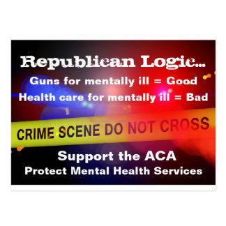 Cartão mental dos serviços sanitários do apoio ACA