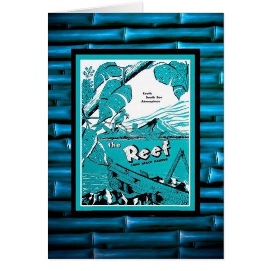Cartão Menu clássico de Tiki do vintage!