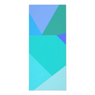 Cartão Menu geométrico