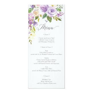 Cartão Menu querido da flora