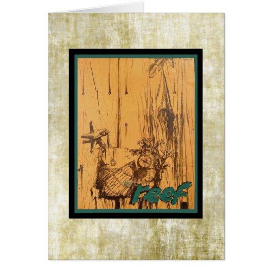 Cartão Menu velho clássico de Tiki do meio século!