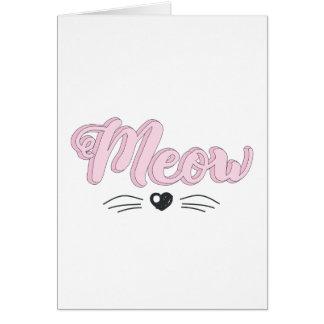 Cartão Meow