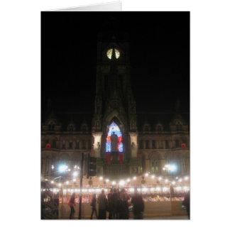 Cartão Mercado alemão quadrado do Natal de Albert,
