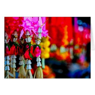 Cartão Mercado da flor, Chiang Mai