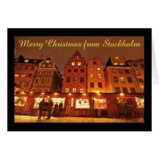 Cartão Mercado do Natal em Éstocolmo, suecia