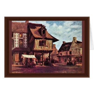 Cartão Mercado em Normandy por Rousseau Théodore