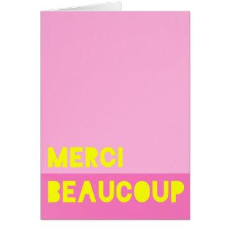 Cartão Merci Beaucoup