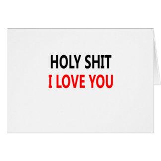 Cartão Merda santamente eu te amo (1)