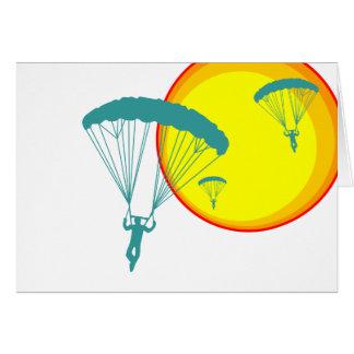 Cartão mergulhadores retros do céu