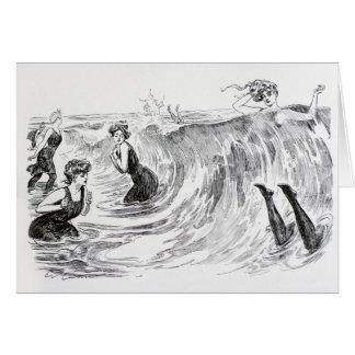 Cartão Mergulho no mar