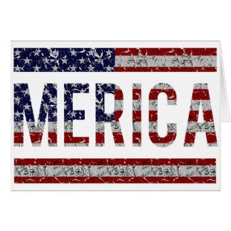Cartão MERICA - Bandeira americana dos EUA do calão do
