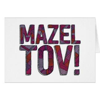 Cartão Merlot dos retalhos de Mazel Tov