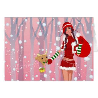 """Cartão """"Merry Christmas"""""""