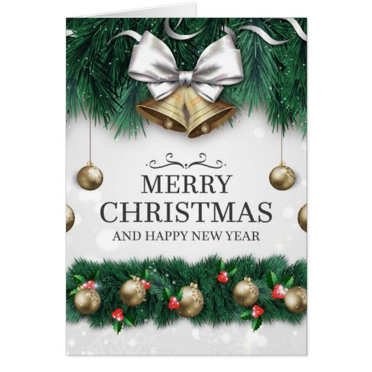 Cartão Merry Christmas & Happy New Year
