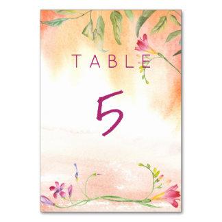 Cartão Mesa do casamento do pop do rosa do Freesia de