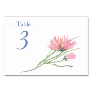 Cartão Mesa floral cor-de-rosa do casamento do quadro da