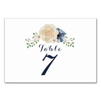 Cartão Mesa floral do casamento do jardim do azul & do