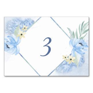 Cartão Mesa floral do casamento do quadro da aguarela