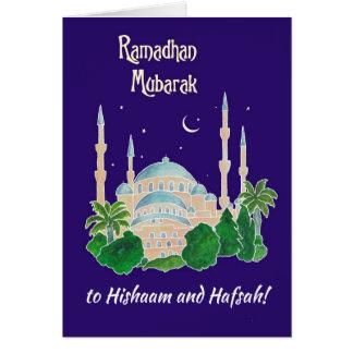 Cartão Mesquita dianteira feita sob encomenda pelo luar