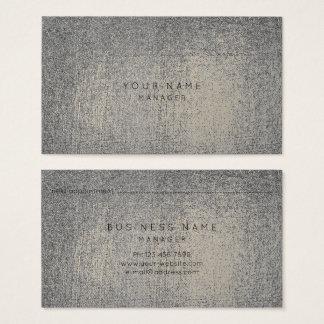 Cartão metálico da nomeação do Sepia do ouro das