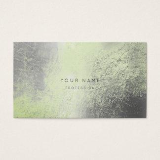 Cartão metálico da nomeação do verde da hortelã