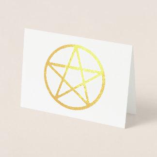 Cartão metálico do Pentacle da folha