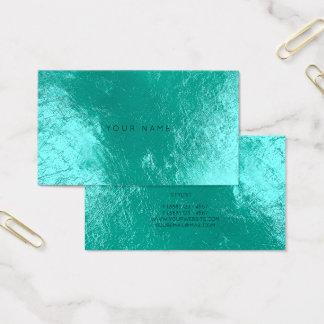 Cartão metálico Vip da nomeação do Aqua do oceano