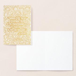 Cartão Metalizado A falha nunca alcançará - Quote´s positivo
