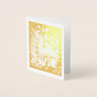 Cartão Metalizado A floresta fantástica cresce rapidamente rato