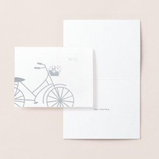 Cartão Metalizado A vida é uns artigos de papelaria da viagem