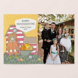 Cartão Metalizado Acção de graças da foto das cenas do outono