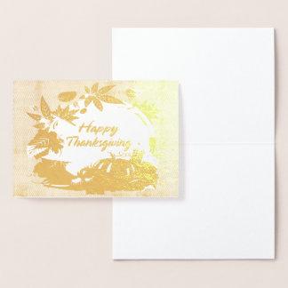 Cartão Metalizado Acção de graças feliz 5