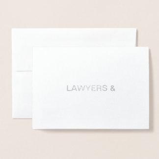 Cartão Metalizado Advogados & feliz aniversario!