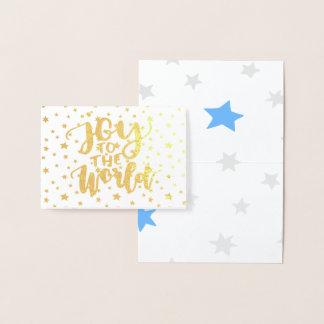 Cartão Metalizado Alegria estrelado ao mundo