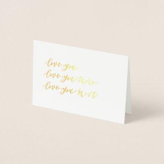 Cartão Metalizado ame-o amor você mais amor você mais