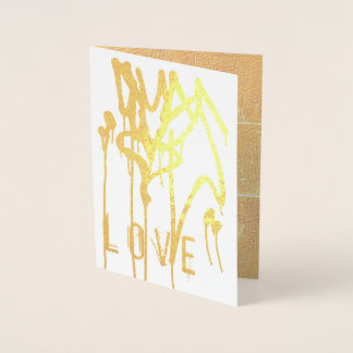 Cartão Metalizado Amor urbano dos grafites do coração da pintura do