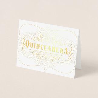 Cartão Metalizado Aniversário decorativo de Años do marmelo de